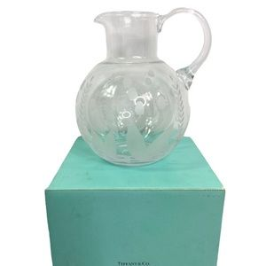 Vintage Tiffany & Co. Etched Crystal Pitcher